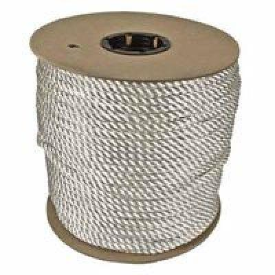 600 Foot Yellow Poly Rope (Twisted Nylon Ropes, 1/4 in X 600 Ft, Nylon, White)
