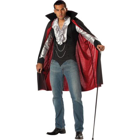 California Costumes Cool Vampire Men great quick and easy vampire costume with attached vest and cape., Style CC01067LG - Cool And Easy Halloween Costumes