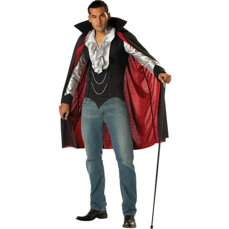 California Costumes Cool Vampire Men great quick and easy vampire costume with attached vest and cape., Style CC01067LG - Quick And Easy Adult Halloween Costumes