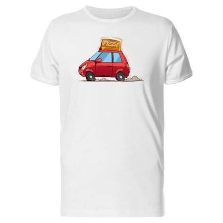 Fast Pizza Delivery Car Cartoon Tee Men's -Image by Shutterstock