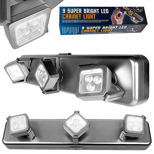 Under-Cabinet Light Fixture with 3 Light Heads - Walmart.com