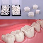 Temporary Dental Crown,50Pcs/Box Dental Back Teeth Temporary Realistic Oral Care Resin Crown Molar Teeth by Ymiko