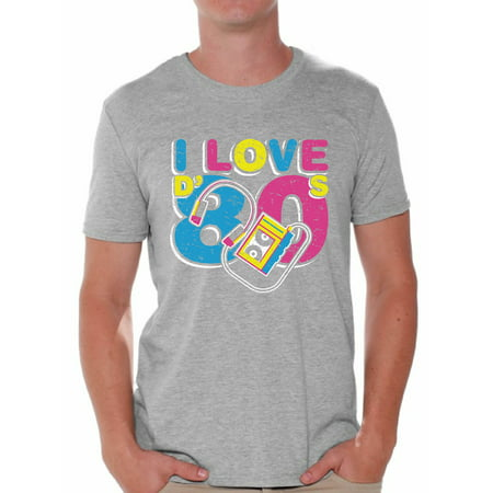 Awkward Styles I Love D' 80s Shirt 80s Costume 80s Clothes for Men I Love the 80s Shirt Mens 80s Accessories 80s Rock T Shirt 80s T Shirt Retro Vintage Neon Shirt](Fir Clothing)