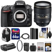 Nikon D810 Digital SLR Camera & 24-120mm f/4 VR Lens with 64GB Card + Backpack + Grip + Battery & Charger + Kit