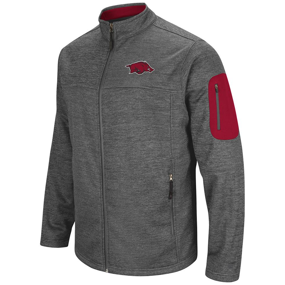 Mens Arkansas Razorbacks Full Zip Jacket by Colosseum