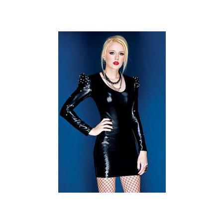 Spiked Shoulder Dress D9271 Coquette Black