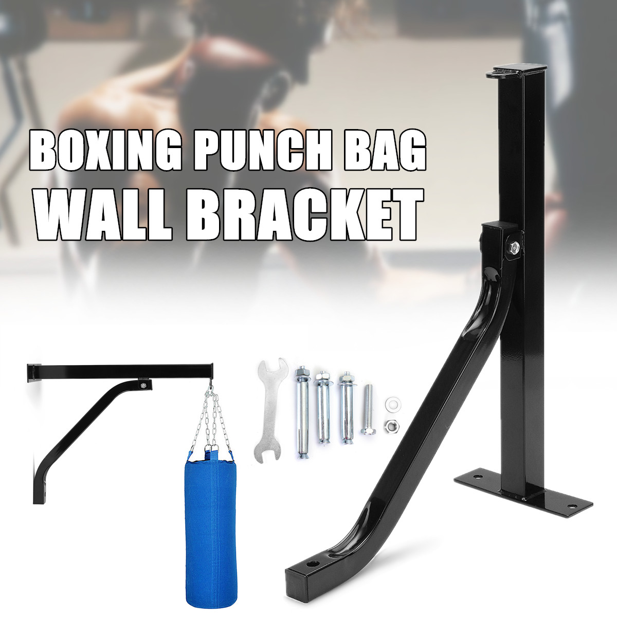 Duty Boxing Punch Punching Bag Wall Bracket Mount Hanging Stand Accessory dr