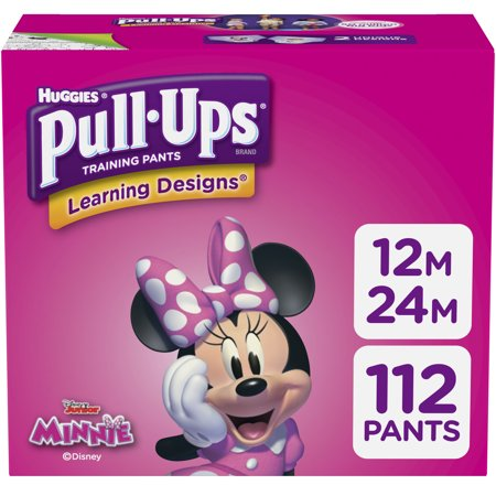 Pull-Ups Girls Learning Designs Training Pants, Size 12M-24M, 112 Ct
