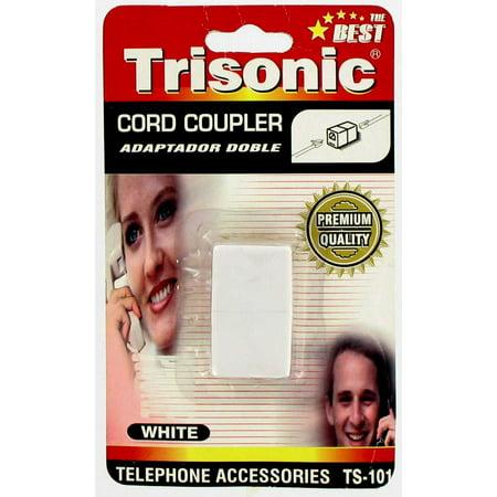 - Telephone Cord Coupler - White