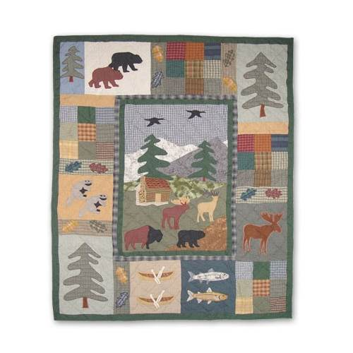 Patch Magic Northwoods Walk Cotton Throw Quilt