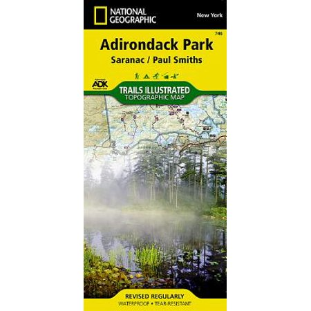 National Geographic Trails Illustrated Map Adirondack Park - Paperback Adirondack High Peaks Map