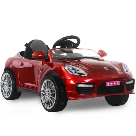 Merax 12v Ride On Car Porsche Style Sports W Mp3 Electric Battery Remote Control Red
