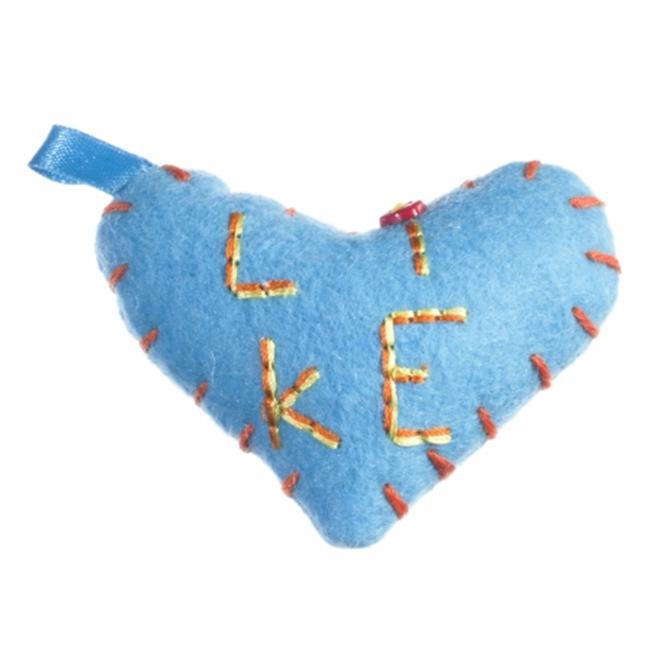 I Like U 0034BL I Like U Blue Pack Package of 5 Puffy Hearts