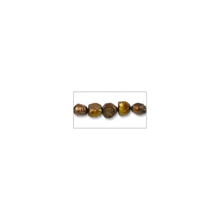 Freshwater Potato Pearl Bumpy Nuggets Rustic Bronze 5-6mm (16