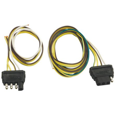 cequent 707270 4-way flat trailer end wire harness with car ends - wishbone  style - walmart com