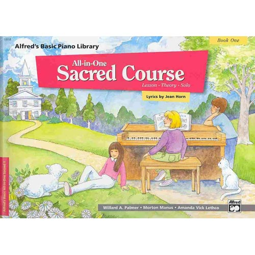 Alfred's Basic Piano Library All-in-one Sacred Course, Book 1: Lesson-theory-solo