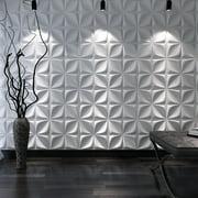 Art3d Decorative 3D Wall Panels Cornus Angustata Design Pack of 12 Tiles 32 Sq Ft (Plant Fiber)
