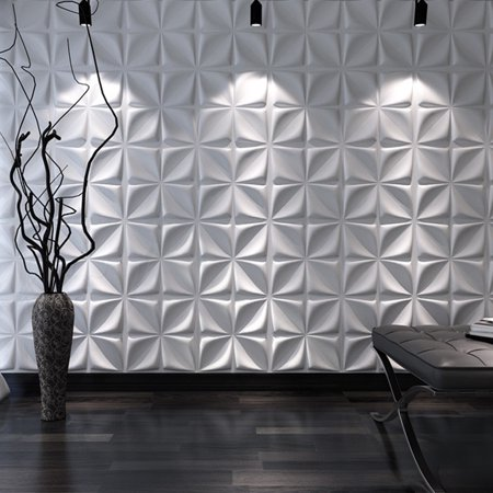 Art3d Decorative 3D Wall Panels Cornus Angustata Design Pack of 12 Tiles 32 Sq Ft (Plant Fiber)
