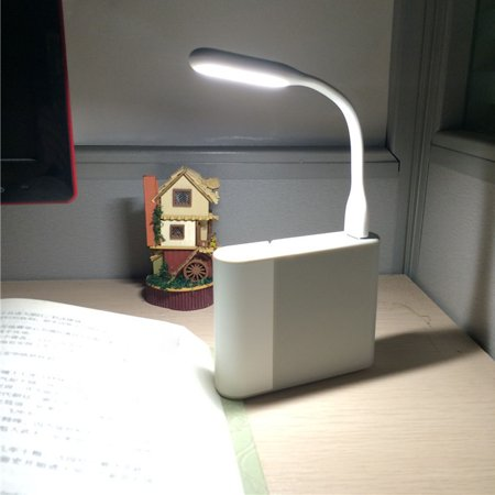USB Light Mini LED Lamp Bendable Portable For Laptop PC Computer MZ ()