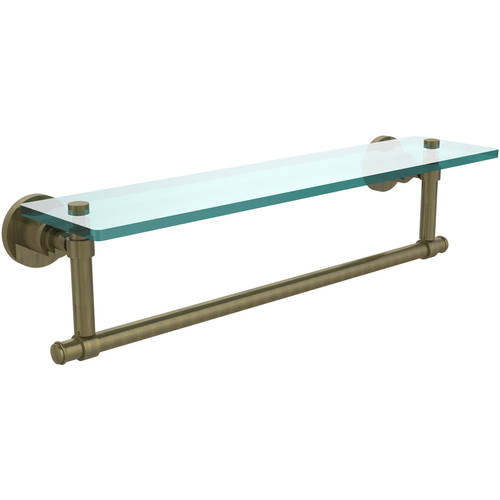 "Washington Square Collection 22"" Glass Vanity Shelf with Integrated Towel Bar (Build to Order)"