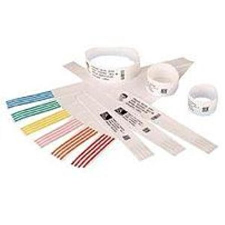 - Zebra Z-Band QuickClip 10007000K Wristband Thermal Label for HC100 Thermal Printer - 260 Labels/Roll - Black, White