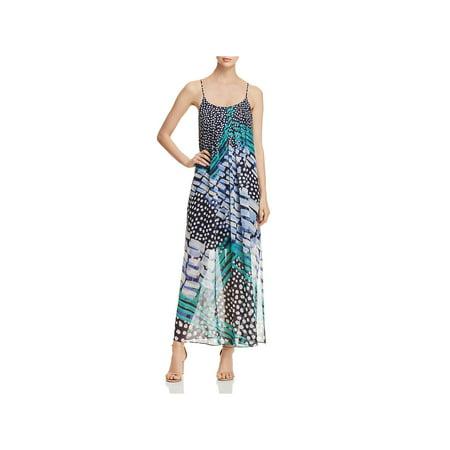 Nic + Zoe Womens Printed Spaghetti Straps Maxi Dress
