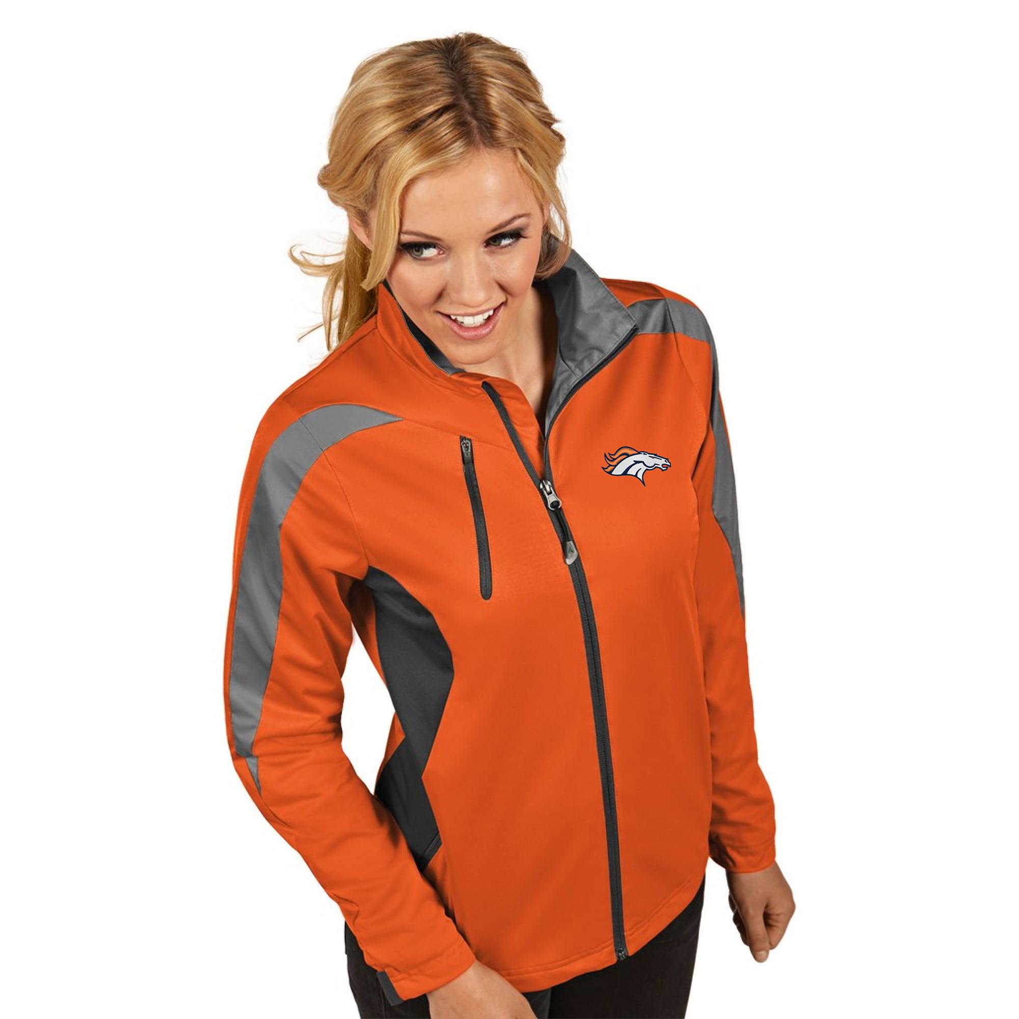 Denver Broncos Women's Antigua Discover Full-Zip Jacket - Orange - S