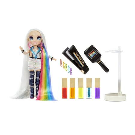 Rainbow High Hair Studio Exclusive Doll with Rainbow Hair & Extra-Long Premium Washable Hair Color