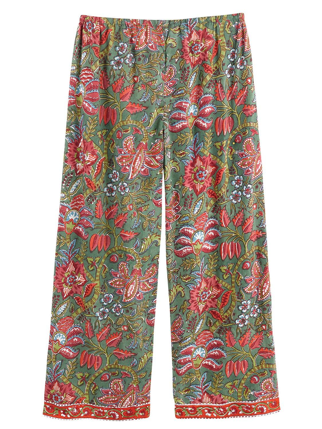 4425eecfaa Catalog Classics - Women s Floral Vines Pajamas - PJ Top Shirt and Lounge  Pants Set - Walmart.com