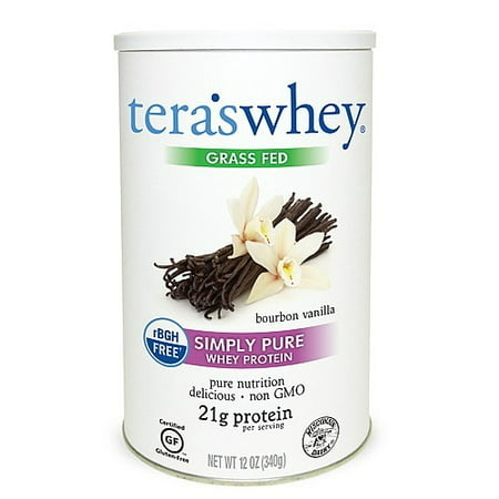 Tera's Whey Grass Fed Whey Protein Powder, Bourbon Vanilla, 21g Protein, 0.75 (Best Tasting Grass Fed Whey Protein Powder)