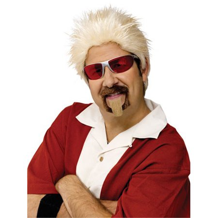 Celebrity Chef Wig Guy Fieri Costume Accessory (Waynes World Garth Wig)