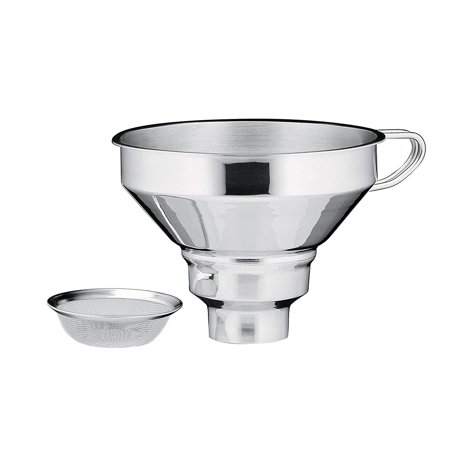 18/10 Stainless Steel Funnel with Filter, Wide-mouth design ensures smooth, splash-less operation. By (Kuchenprofi 18 10 Stainless Steel Funnel With Filter)