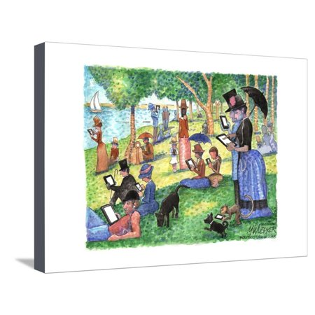 George Seurat's painting, A Sunday Afternoon on the Island of La Grande Jatte. Stretched Canvas Print Wall Art By Matt (A Sunday Afternoon On The Grande Jatte)
