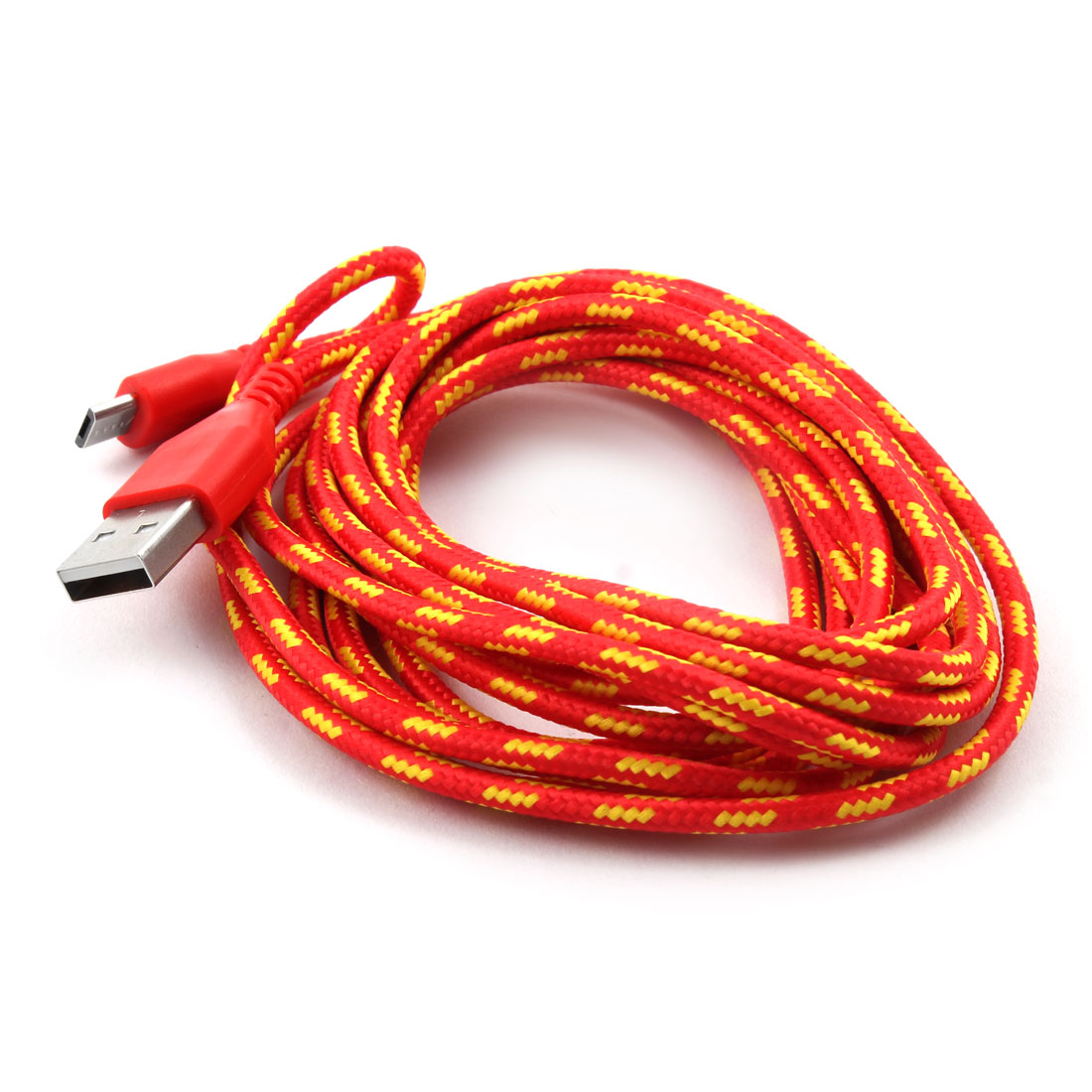 Nylon Braided Wire Usb 20 A Male To Micro B Charger Data Cable Red 10ft Wiring