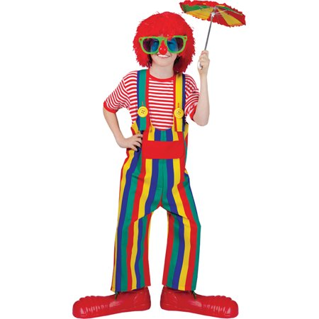 Morris costumes FF60679 Striped Clown Overalls Ch Lg (Costumes With Overalls)