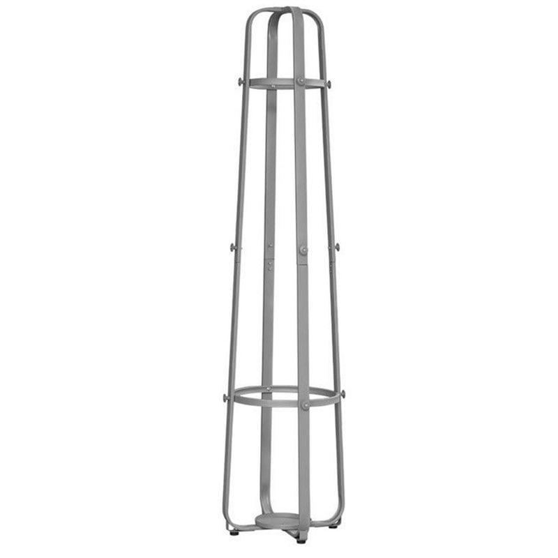 Atlin Designs Metal Coat Rack with Umbrella Holder in Silver by Atlin Designs