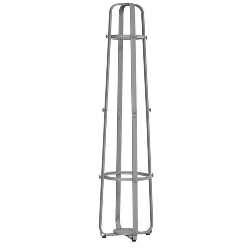 Atlin Designs Metal Coat Rack with Umbrella Holder in Silver