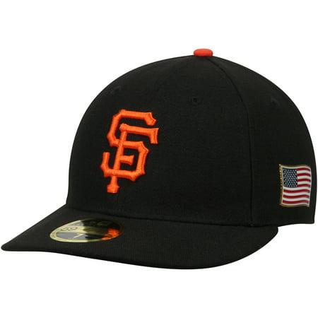 11ec4df61e7de San Francisco Giants New Era Authentic Collection On-Field 59FIFTY Low  Profile Flex Hat with 9 11 Side Patch - Black