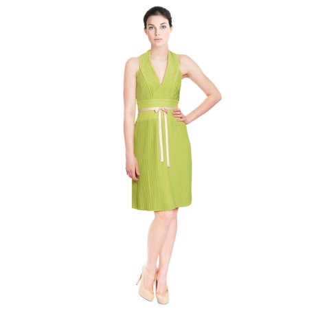 Escada Feminine Pleated Halter Dress