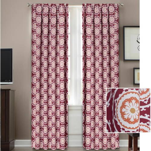 Better Homes and Gardens Medallion Room Darkening Curtain Panel ...