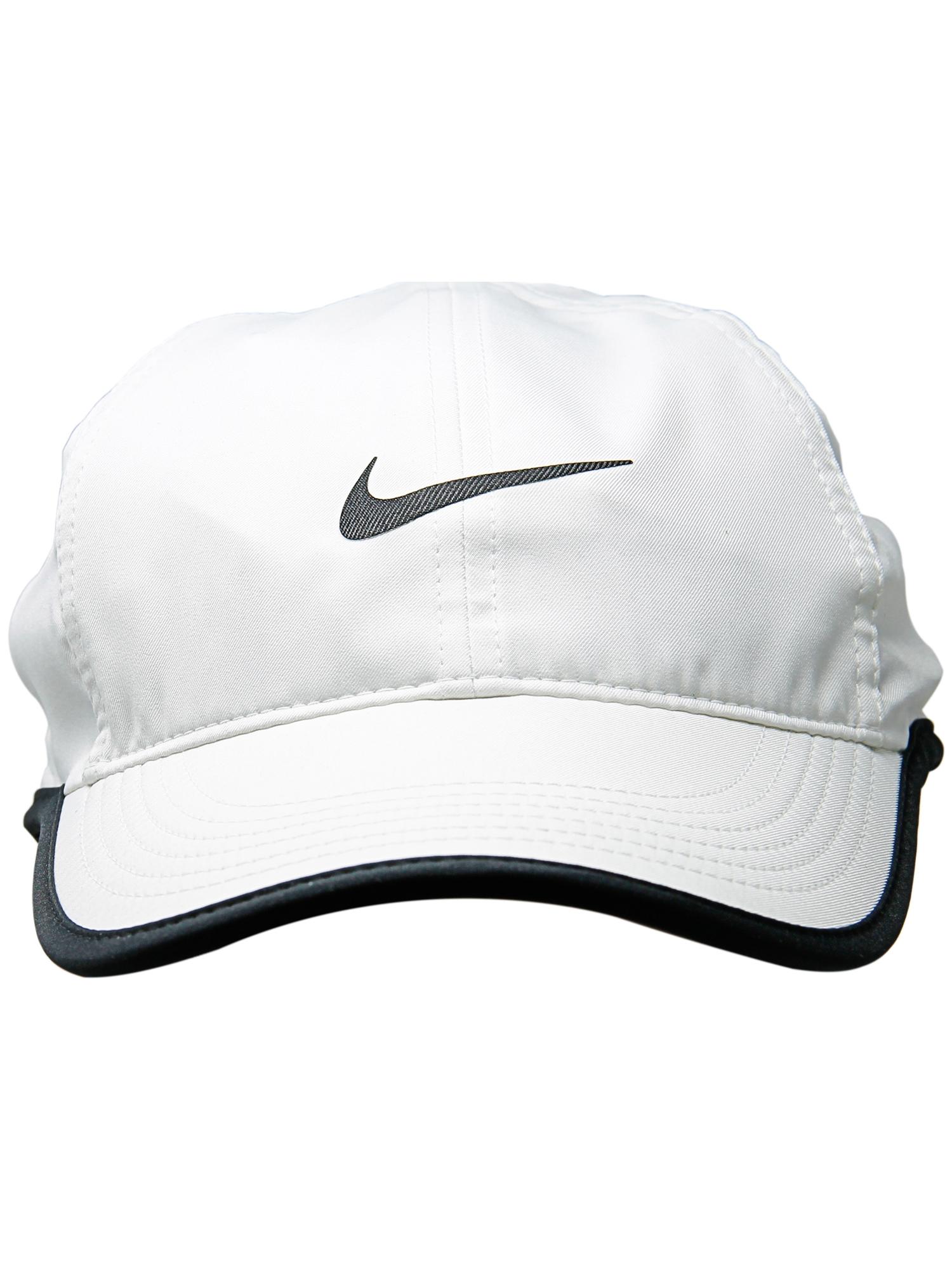 Nike Women s White   Black Aerobill Featherlight Tennis Cap Hat ... 75c76773640