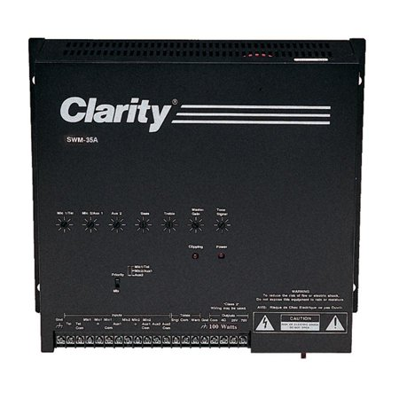 Valcom - SWM-35A - Clarity SWM-35A Amplifier - 35 W RMS - Black - 50 Hz to 16 kHz - 35 W