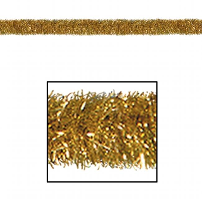 Beistle Company 55281-GD FR Gleam N Tinsel Garland - Gold