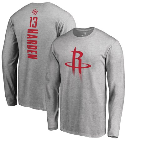 brand new 15249 4ae1a James Harden Houston Rockets Fanatics Branded Backer Big & Tall Long Sleeve  T-Shirt - Gray