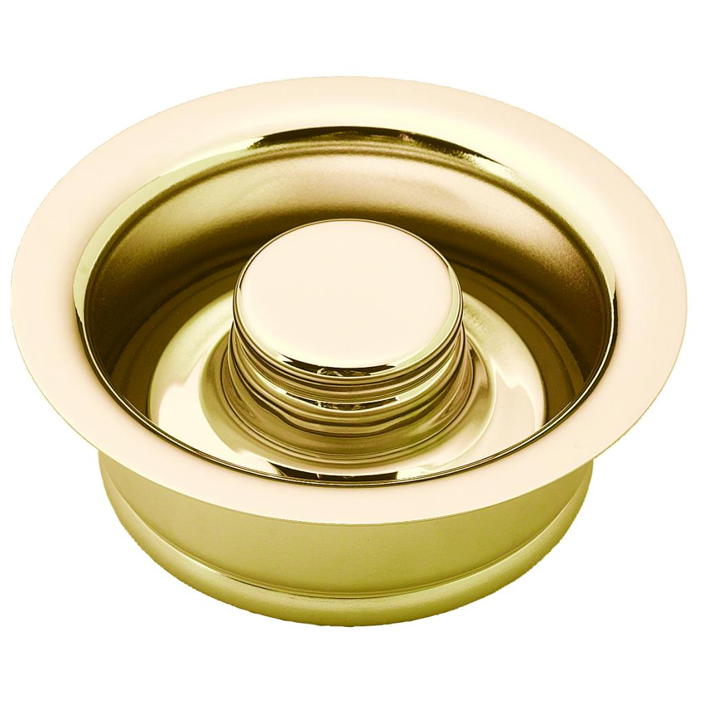 Westbrass InSinkErator Style Disposal Flange and Stopper in Polished Brass