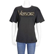 Versace Ladies T-Shirt Black, Gold Donna, Brand Size 42 (US Size 6)