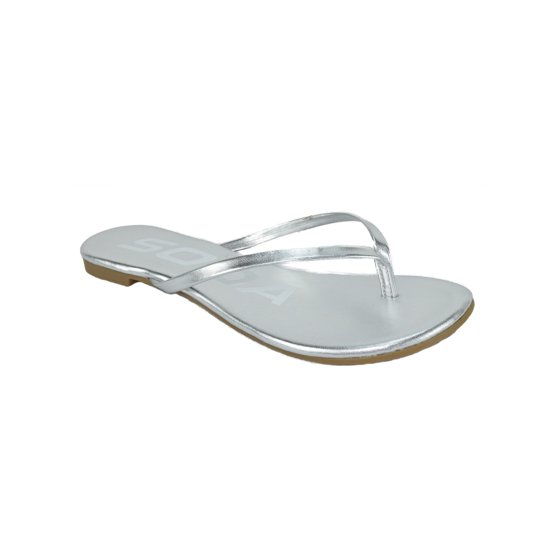 751dc1261fc2 Soda - SeaShell Women Basic Plain Flip Flops Thongs Sandals Strap ...