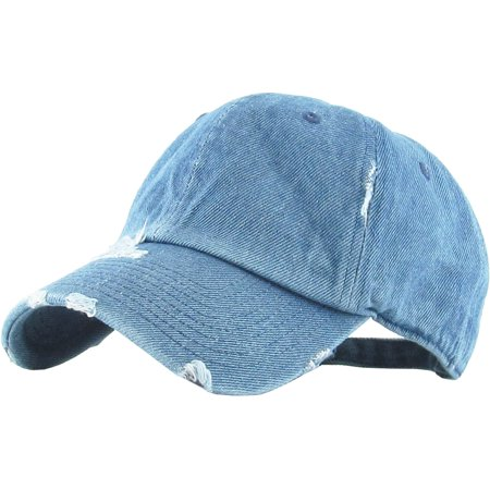 153988a6fe5614 Washed Solid Vintage Distressed Cotton Dad Hat Adjustable Baseball Cap Polo  Style - Walmart.com