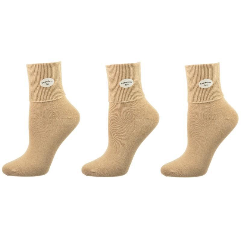 White Size Small Essentials Girls/' 9-Pack Cotton Uniform Turn Cuff Sock,