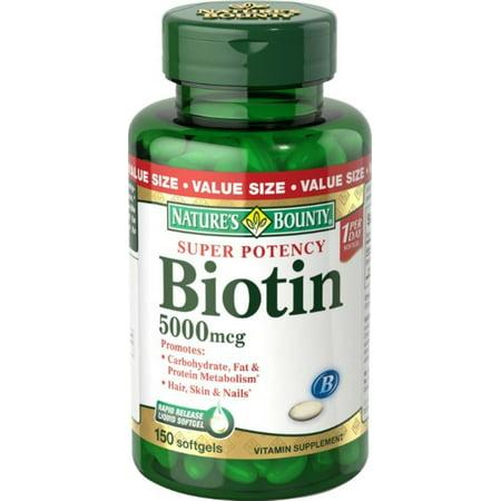 Nature's Bounty biotine gélules,